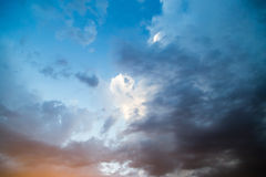Clouds at sunset as background Stock Images