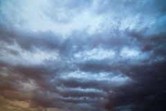 Clouds at sunset as background Royalty Free Stock Photos
