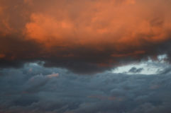 Clouds at sunset Royalty Free Stock Photos