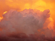 Clouds and sunset. Beautiful clouds in the evening and sunset. The evening sky. Clouds background. Sky background. Nature Stock Photography