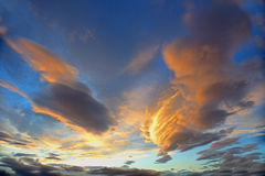 Clouds at sunset Stock Images