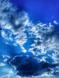 Clouds. Sunset and hdr Royalty Free Stock Photo