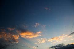 Clouds in the sunset Royalty Free Stock Images