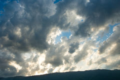 Clouds at sunset. Royalty Free Stock Photo