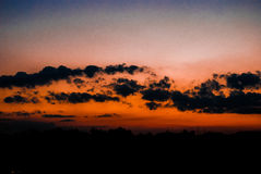Clouds at sunset. Photo of clouds at sunset Royalty Free Stock Photo