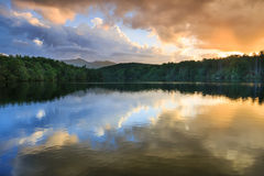 Clouds Sunset Price Lake Blue Ridge North Carolina Stock Photos