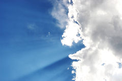 Clouds and Sunshine Royalty Free Stock Photo
