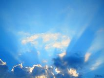 Clouds and sunshine. Blue sky, clouds and sunshine Royalty Free Stock Images