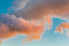 Clouds in sunshine sky Stock Photography