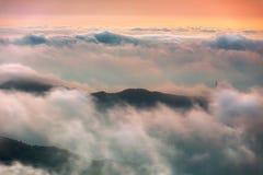 Clouds, A Surname, Mist, Sun, Sky Stock Photo