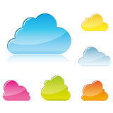 Clouds symbols Royalty Free Stock Photography