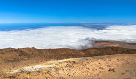 Clouds from Teide Royalty Free Stock Image