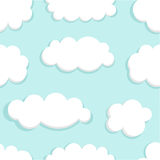 Clouds texture. Blue sky and clouds seamless. vector illustration Royalty Free Stock Photo