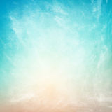 Clouds on a textured vintage  background Stock Image