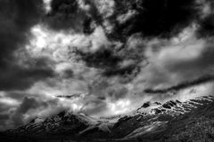 Clouds on Thompson Pass in Alaska Royalty Free Stock Images
