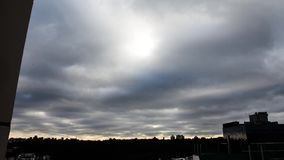 Clouds time lapse. Clouds are moving fast.  stock video