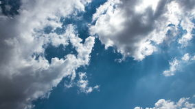 Clouds Time Lapse 1. Cloudy tropical sky time lapse shot in the afternoon stock footage