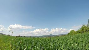 Clouds in a time lapse in Germany. With famous hill Hohenstaufen, former seat of emperor Barbarossa stock video
