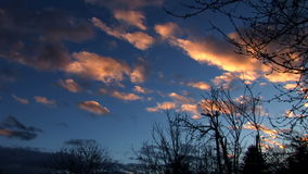 Clouds Time Lapse - Reddish stock video