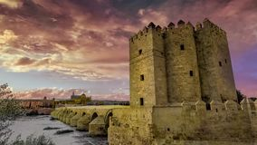 Clouds timelapse in a historic cityscape stock footage
