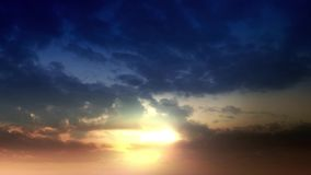 Clouds Timelapse in the wide sky. Sunset and dark solutions and night entry stock footage