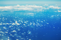 Clouds from the top, airplane view Stock Image