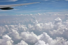 Clouds from top Royalty Free Stock Images