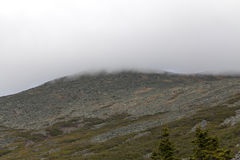 Clouds on top of  Mount Washinton area viewd via  Ammonoosuc rav. Ine trail  in Coos County,  New Hampshire Stock Images