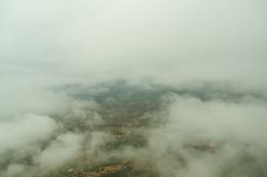 Clouds and top view from ballon Stock Photography