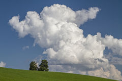 Clouds tower Royalty Free Stock Photography