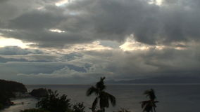 Clouds from tropical storm Lando. Heavy storm clouds during tropical storm Lando at Puerto Galera, Sabang on the island Oriental Mindoro in the Philippines stock footage