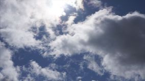 Clouds in the troubled sky are moving . stock footage