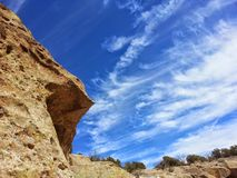 Clouds Tsankawe New Mexico Royalty Free Stock Images