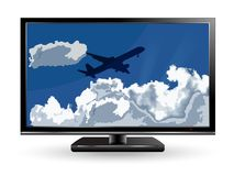 Clouds in tv Stock Photography