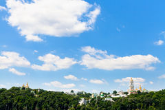 Clouds under Kiev Pechersk Lavra, Stock Images