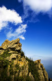 Clouds under mountains Royalty Free Stock Images