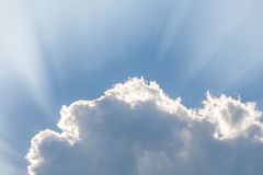 Clouds under sun and Sunbeam through clouds Stock Photography