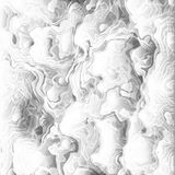 White clouds undulatus asperatus vector background. Thick choking smoke backdrop. Gray ash and steam from an erupting Royalty Free Stock Photo