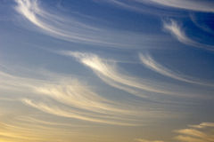 Clouds. Unusual clouds on a background of a sunset Royalty Free Stock Images