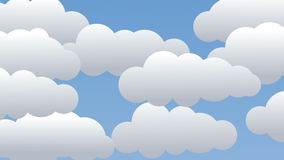 Clouds, unzip and blue sky! Stock Photography