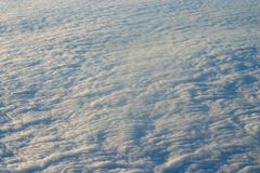 Clouds from up above. Higher than the sky - soft clouds Royalty Free Stock Photos