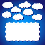 Clouds in vector Royalty Free Stock Image