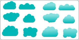 Clouds vector collection. Cloud computing pack vector illustration