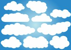 Clouds vector pack Stock Image