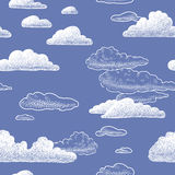 Clouds. Vector pattern of the hand drawn clouds Royalty Free Stock Photo