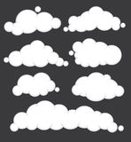 Clouds vector set. Stock Photos