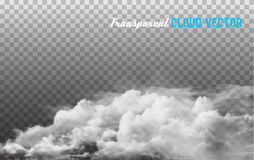 Clouds vector on transparent background. Vector Royalty Free Stock Photos