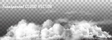 Clouds vector on transparent background. Vector Royalty Free Stock Images