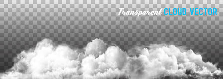Clouds vector on transparent background. Royalty Free Stock Photo