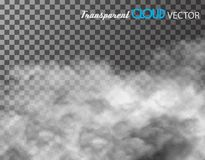 Clouds vector on transparent background. Stock Photos